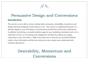 Persuasive Design Section