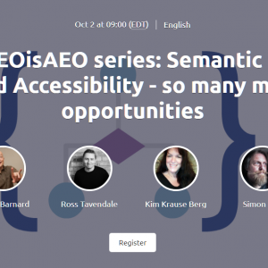 Semantic HTML5, IA and Accessibility Banner