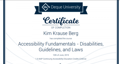 Certificate in Accessibility Law