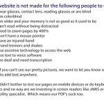 Website Accessibility and Do Not Enter Signs