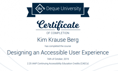 Certificate in Designing an Accessible User Experience