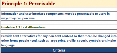 Perceivable Guideline from WCAG2.1
