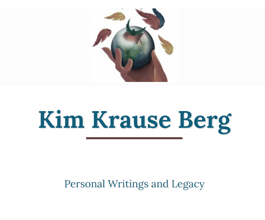 Header section of the Kim Krause Berg website.