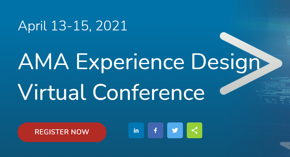 AMA Experience Design Conference Promotion Screenshot